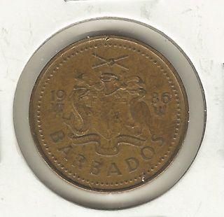 Barbados 5 Cents,  1986 photo
