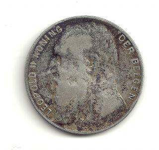 1901belgen,  50 Centimes.  8350 Silver Coin At Fine photo