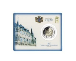- Coincard Luxembourg 2 Euro Commemorative 2013 - Anthem photo