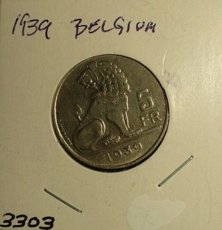 Belgium 5 Francs 1939 photo