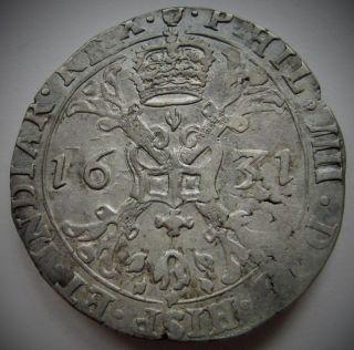 Brabant Philippe Iv Demi - Patagon 1631 Antwerp Delm.  301 photo