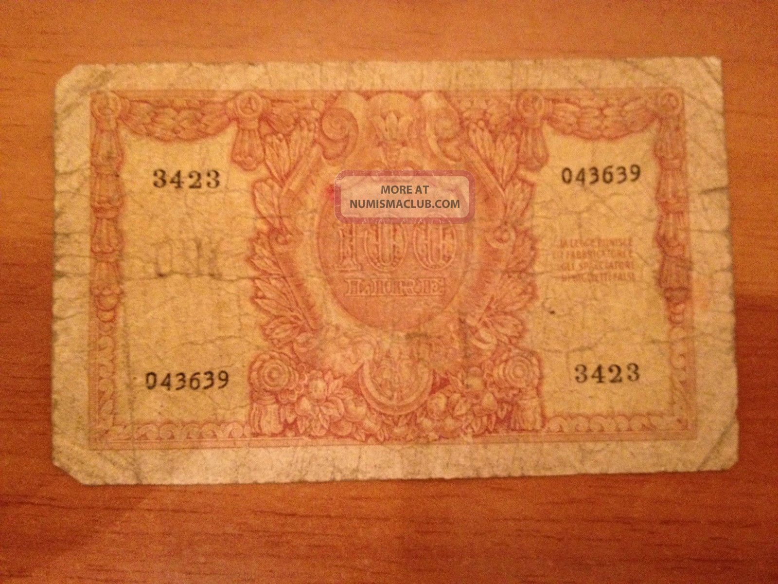 100 Cento Lire 1951 Vale Italia