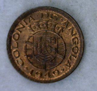 Angola 10 Centavos 1949 Uncirculated Portugal Coin (cyber 821) photo