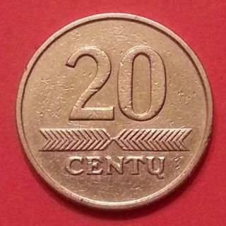 20 Centu 1997 Years Lithuania Copper Zinc Nickel (1 - 3 - 3) photo