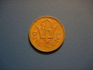 Barbados 1 Cent,  1973 Coin photo