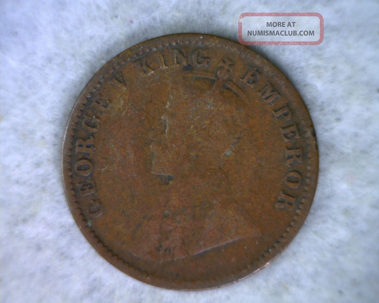 British India 1 4 Anna 1919 Fine Coin Cyber 724