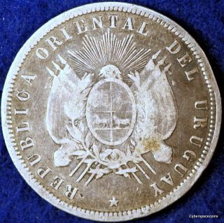 Estate Find 1877 - A Grade Uruguay Km - 16 Fifty Centesimos photo