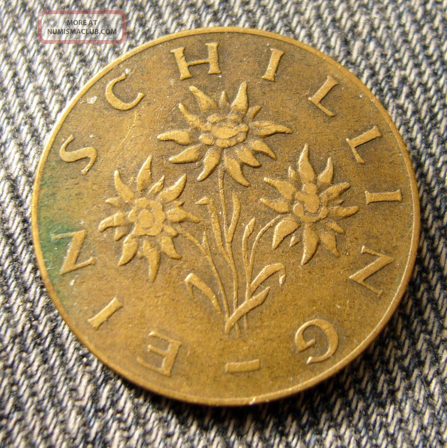 1959 Austria 1 Schilling Coin