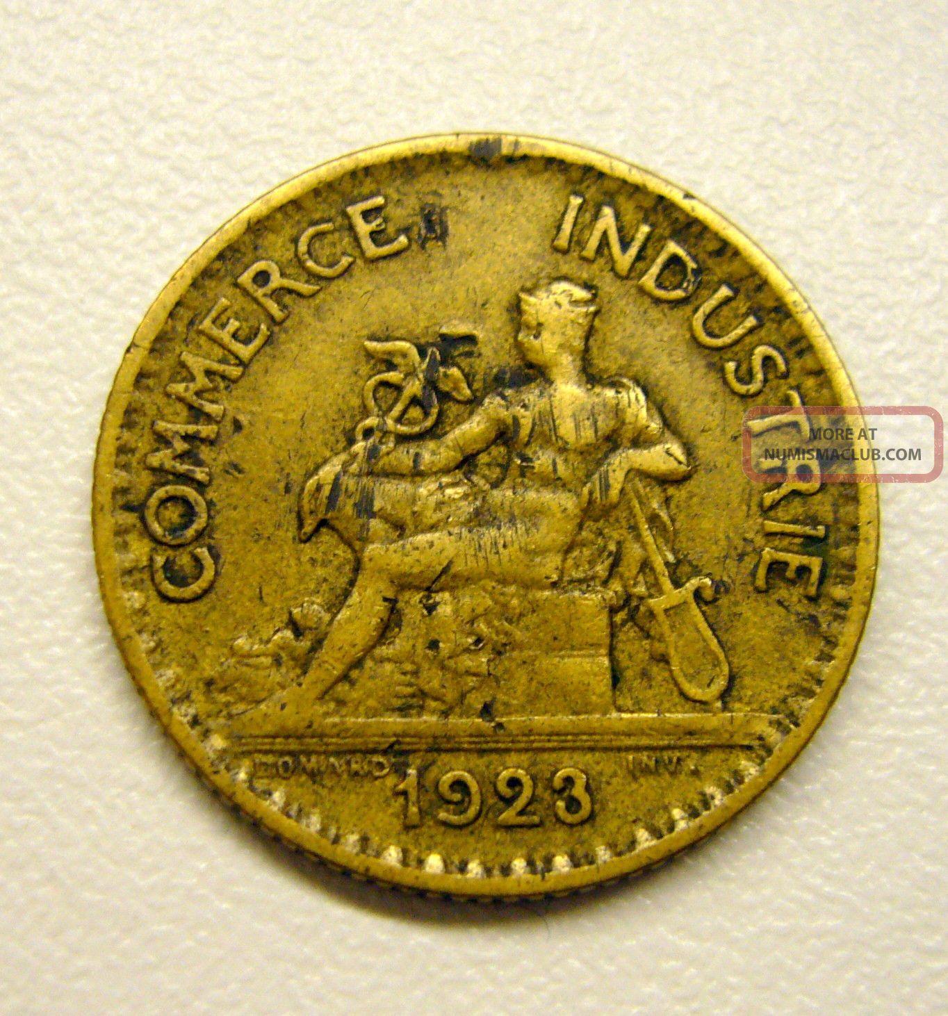 1923 1 franc coin commerce industrie bon pour france for Bon pour 1 franc chambre de commerce