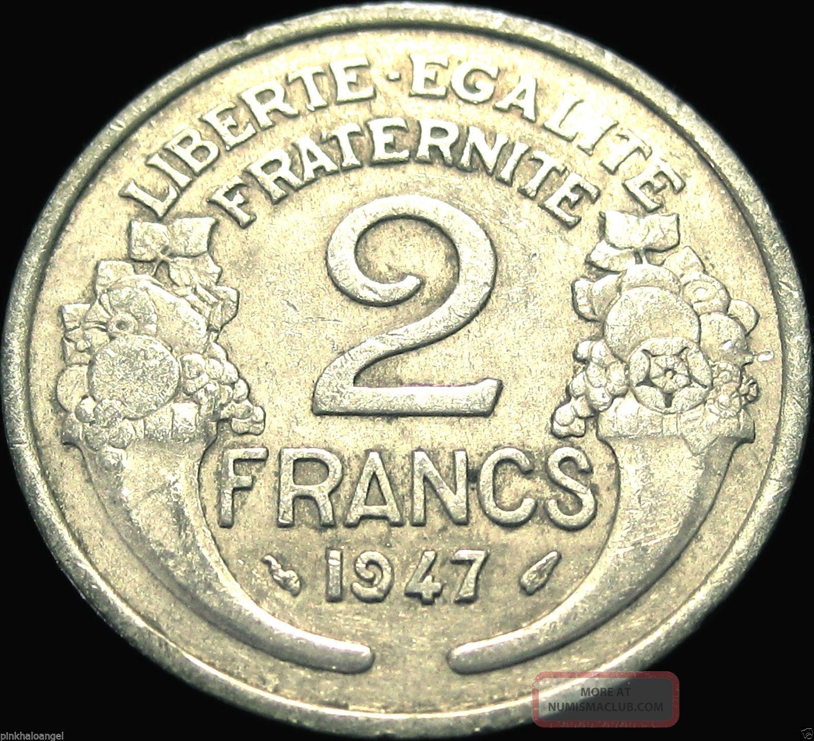 1947 2 francs coin