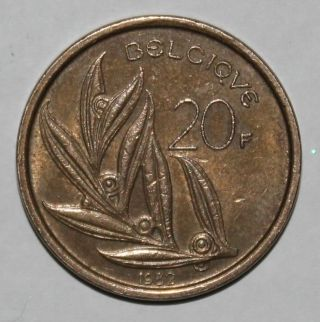 20 Belgian Francs Coin - 1982 - Baudouin I - Belgium - French - Pre - Euro - Km159 photo