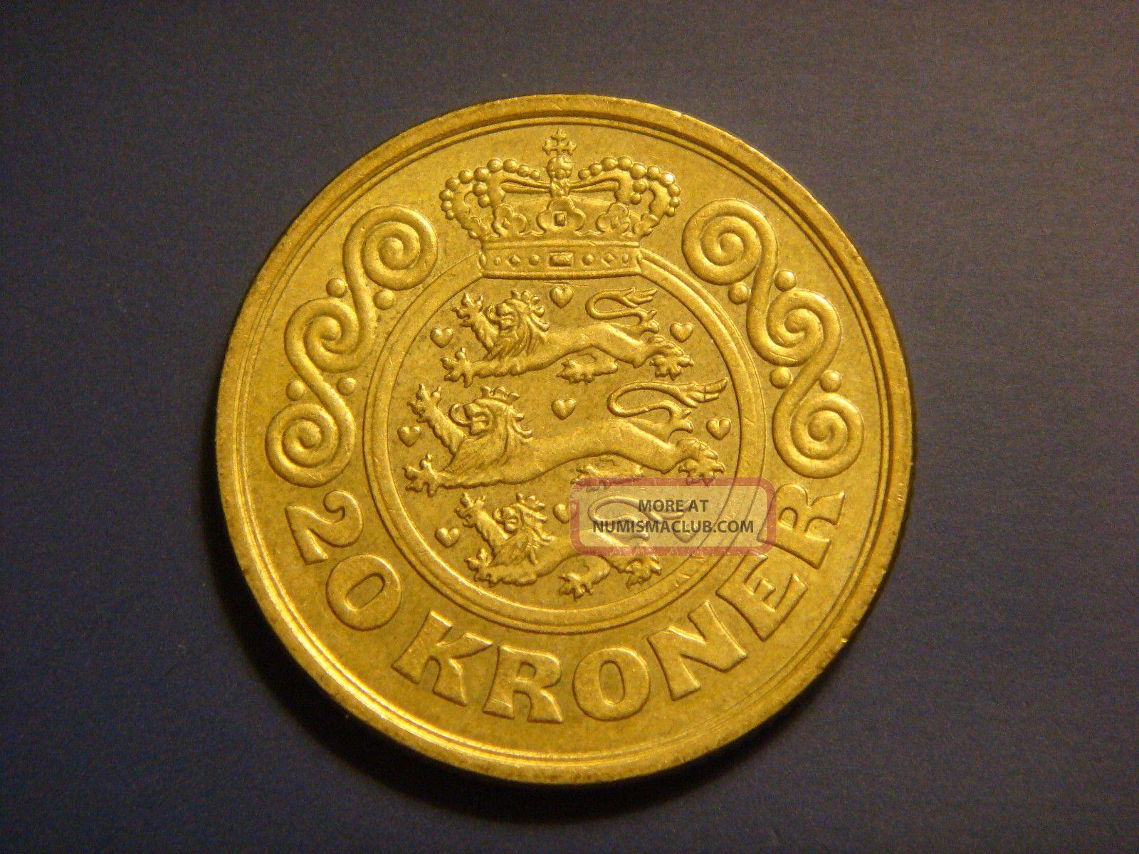 Denmark 20 Kroner 1990 Coin Margrethe Ii