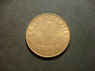 Estonia 1 Kroon,  1998 Coin photo