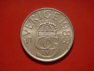 Sweden 5 Kronor,  1983 Coin photo