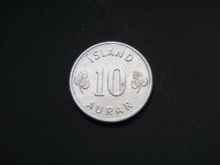 Iceland 10 Aurar,  1971 Coin photo