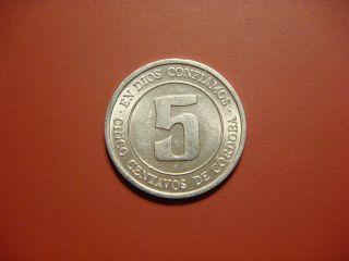 Nicaragua 5 Centavos,  1974 Coin photo