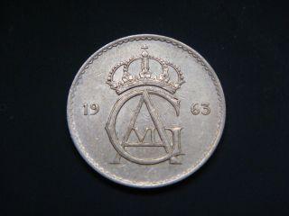 Sweden 50 Ore,  1963 Coin photo
