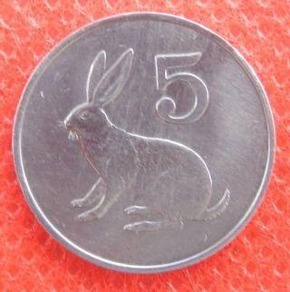 Zimbawe 5 Cent 1983 photo
