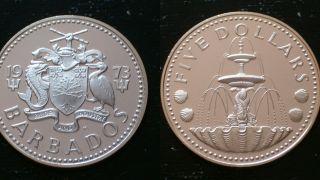 Barbados / 1973 - Five Dollars / Silver Coin photo