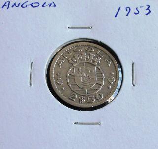 Portugal / Angola - 2,  50 Escudos - 1953 photo