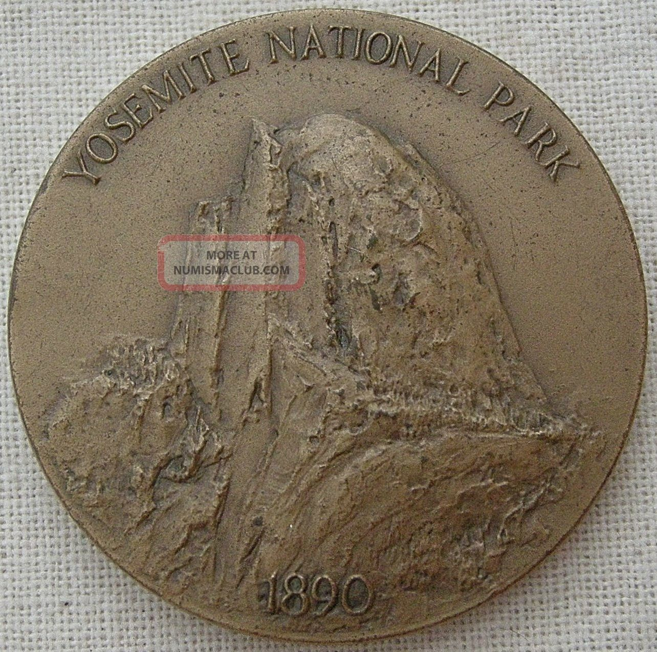 Maco.  National Parks Centennial,  Yosemite Medal,  1972 By Frank Hagel Exonumia photo