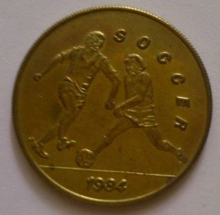 1984 Los Angeles Olympics Scrtd Fare Soccer Token photo