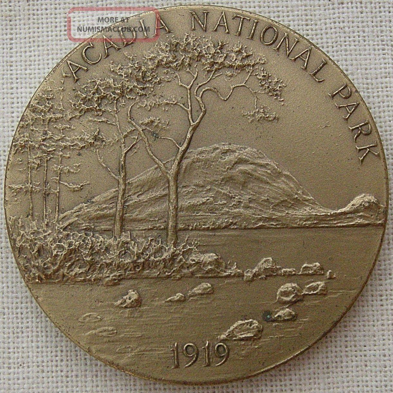 Maco.  National Parks Centennial,  Acadia Medal,  1972 By Frank Hagel Exonumia photo