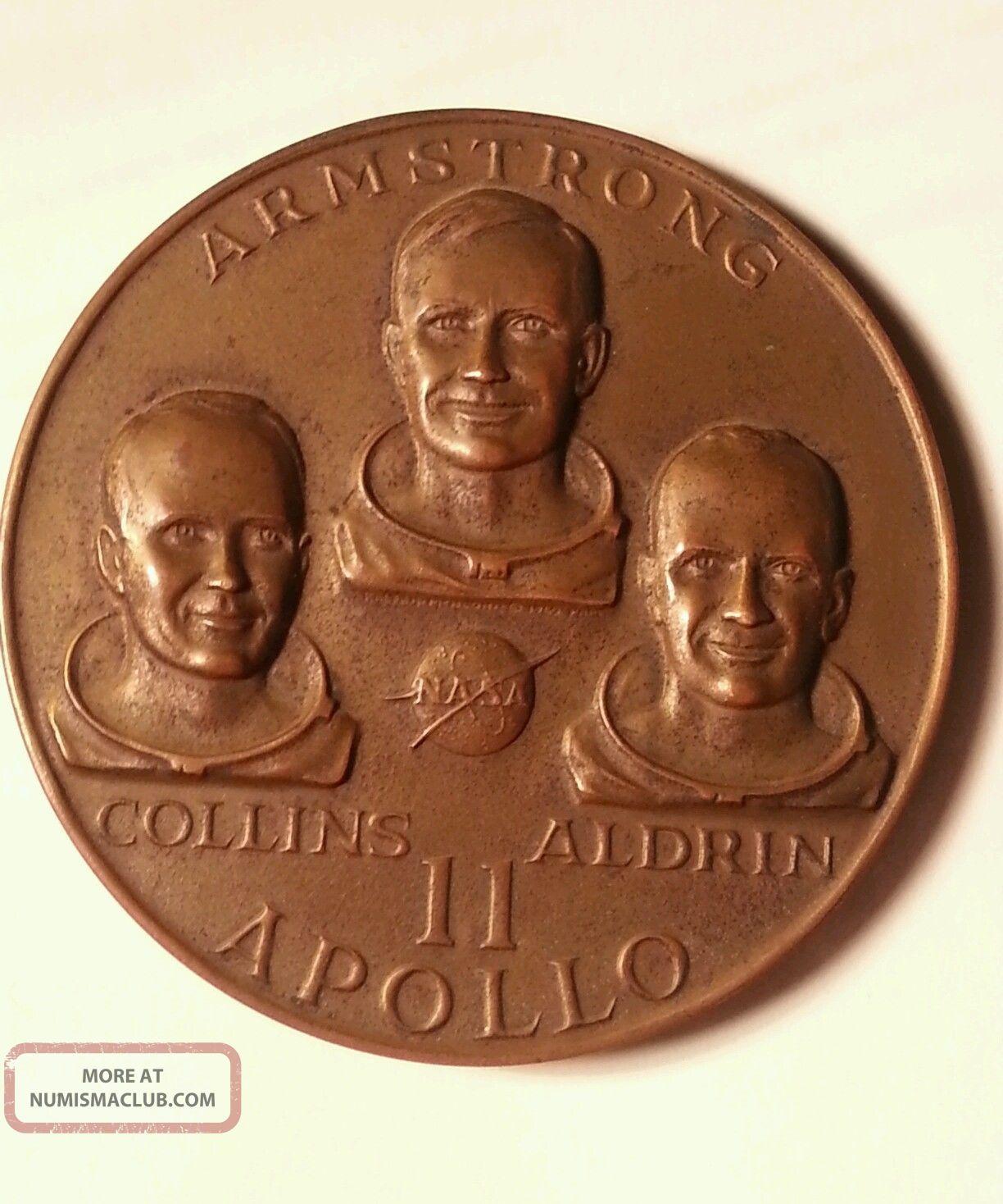 silver medallion apollo 11 coin - photo #29
