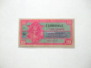 Military Payment Certificate Ten Cents Series 521 photo