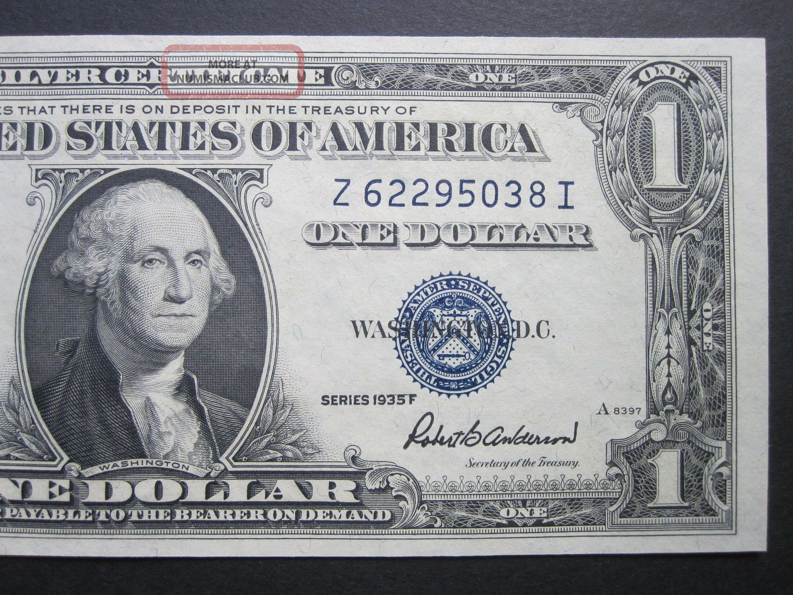 1 1935f One Dollar Crisp Silver Certificate Old Paper Money Blue