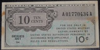 Us Mpc Series 461 10 Cents 0434a photo