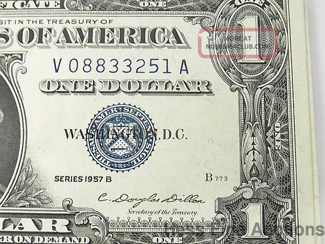 1957 B Uncirculated 50 One Dollar Bill Silver Certificate Star Note ...
