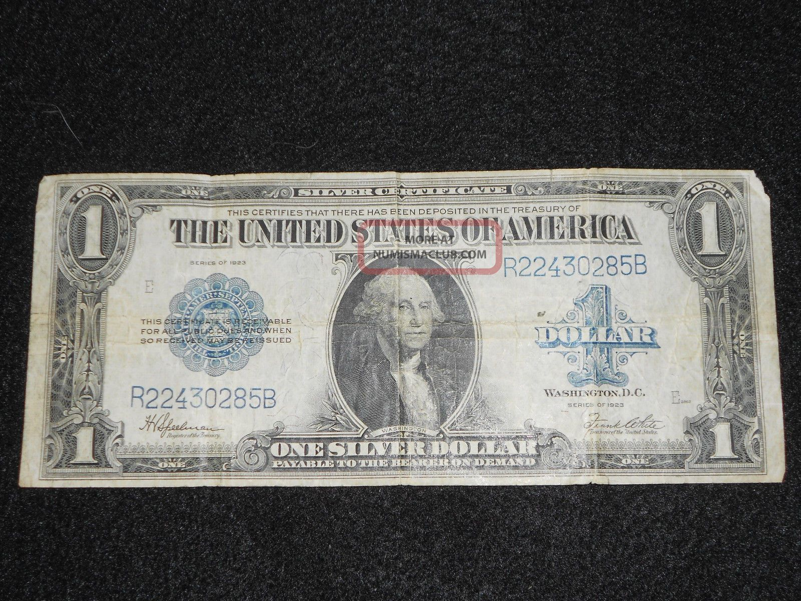 Series Of 1923 Large 1 Dollar Silver Certificate Fine Horse Blanket