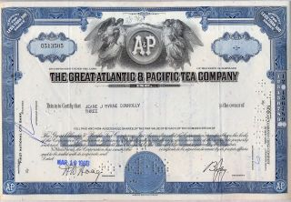The Great Atlantic & Pacific Tea Company Stock Certificate photo