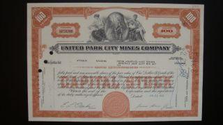 United Park City Mines Company Stock photo