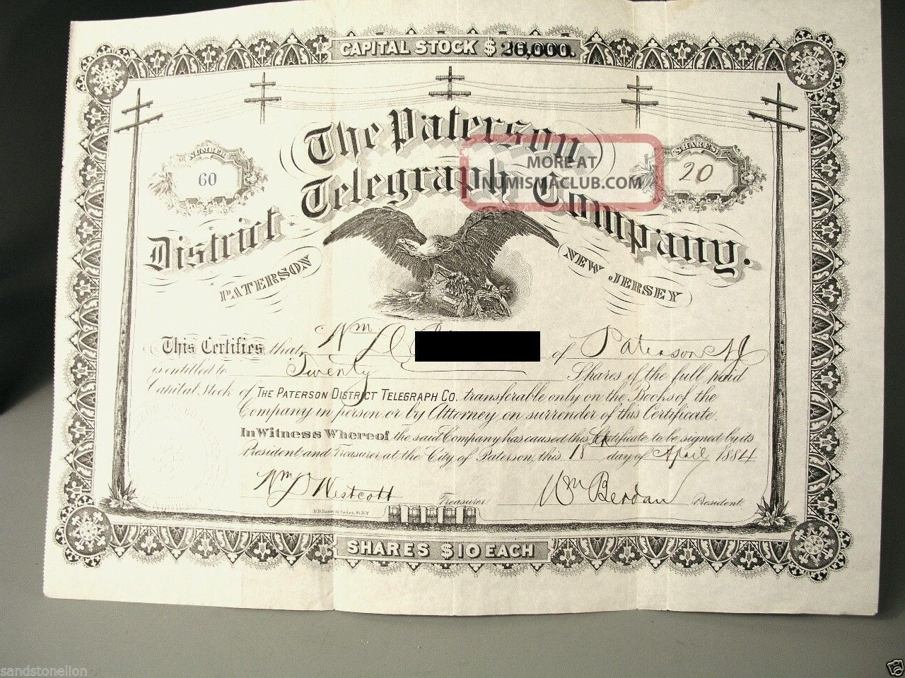 Historic Share Certificate High Resolution Stock