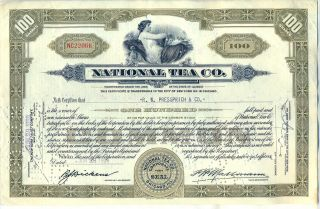 National Tea Co.  Stock Certificate Chicago Illinois photo