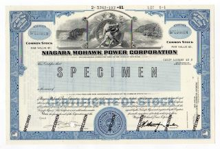 Specimen - Niagara Mohawk Power Corp.  Stock Certificate photo