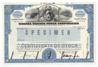 Specimen - Niagara Mohawk Power Corp.  Stock Certificate photo