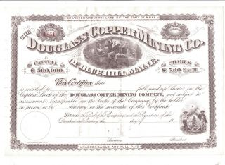 Douglass Copper Mining Company,  Blue Hill,  Maine,  $5.  00 Share photo