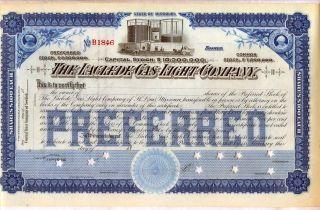 Laclede Gas & Light Company Stock Certificate Missouri photo
