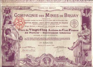 Russia Bond 1895 Chemical Explosive Kowanko Barbier 100 fr coup Deco Uncancelled