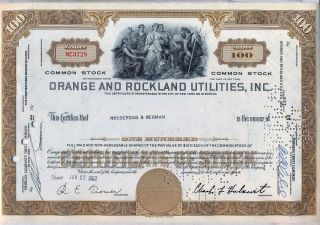 Orange & Rockland Utilities Stock Certificate York Con Ed photo