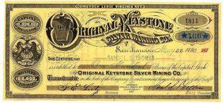 1880 The Virginia Keystone Silver Mining Company photo