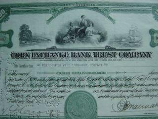 Corn Exchange Bank Trust Company 2 Certificates photo