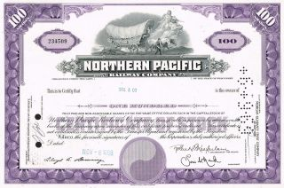 Usa Northern Pacific Railway Stock Certificate photo