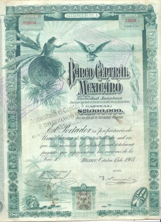 Banco Central Mexicano 1905 $30 M Coupons 27 - 60 photo