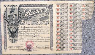 Banco De Coahuila 1899 With Coupons photo