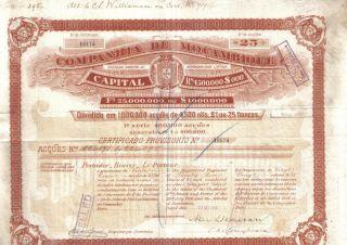 Africa Bond 1895 Company Of Mozambique 25 Shares £25 625 Francs Deco photo