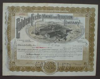 Golden Cycle Mining And Reduction Company 1918 photo